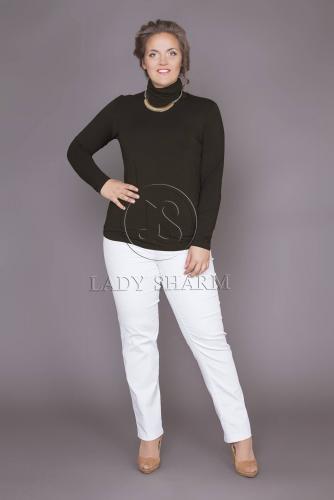 Блузка (D-266-49/2) черный (Леди Шарм, Санкт-Петербург) — размеры 60, 62, 64